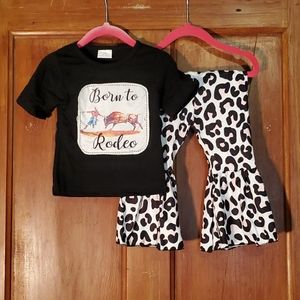 "NEW ""Born to Rodeo"" 2 Piece Set Size 3-6M"